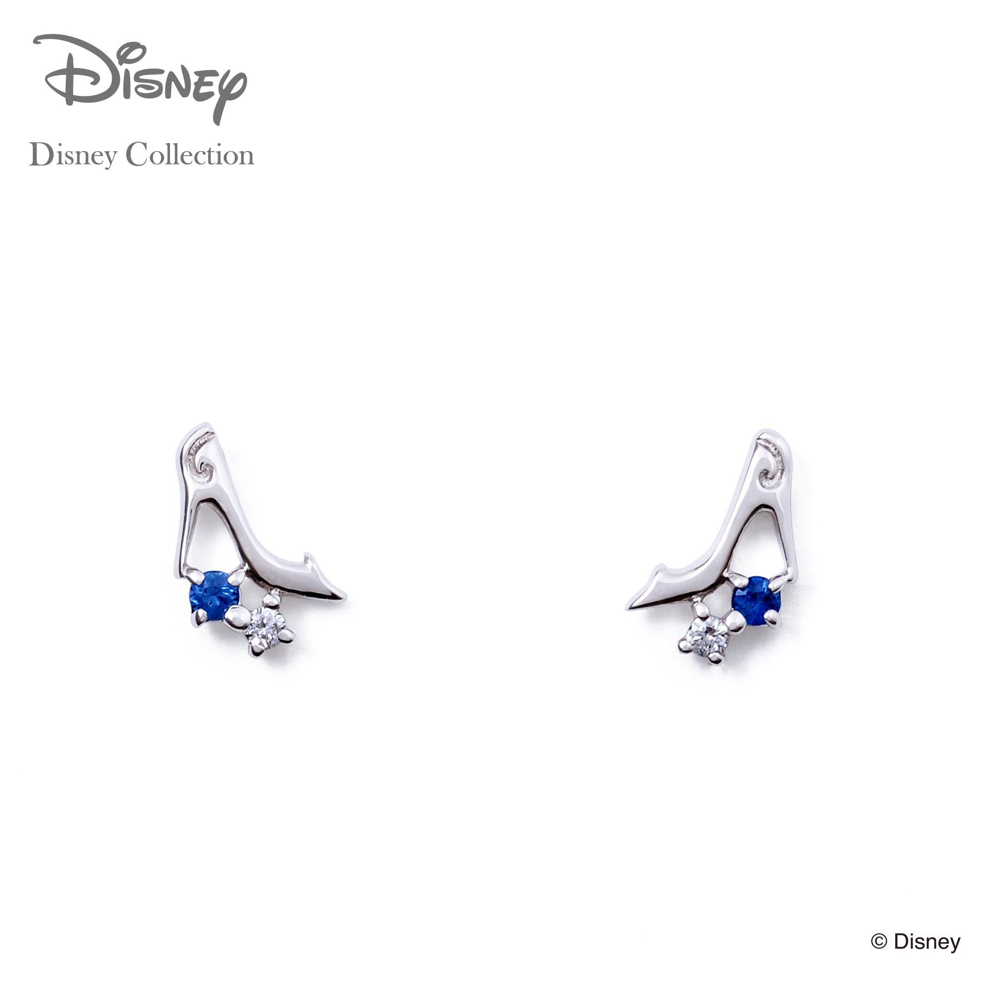 【あす楽対応】【ディズニーコレクション】 ディズニー / ピアス / ディズニープリンセス シンデレラ / THE KISS ピアス K10 ホワイトゴールド ダイヤモンド (レディース) DI-WPE1800SP ザキス 【送料無料】
