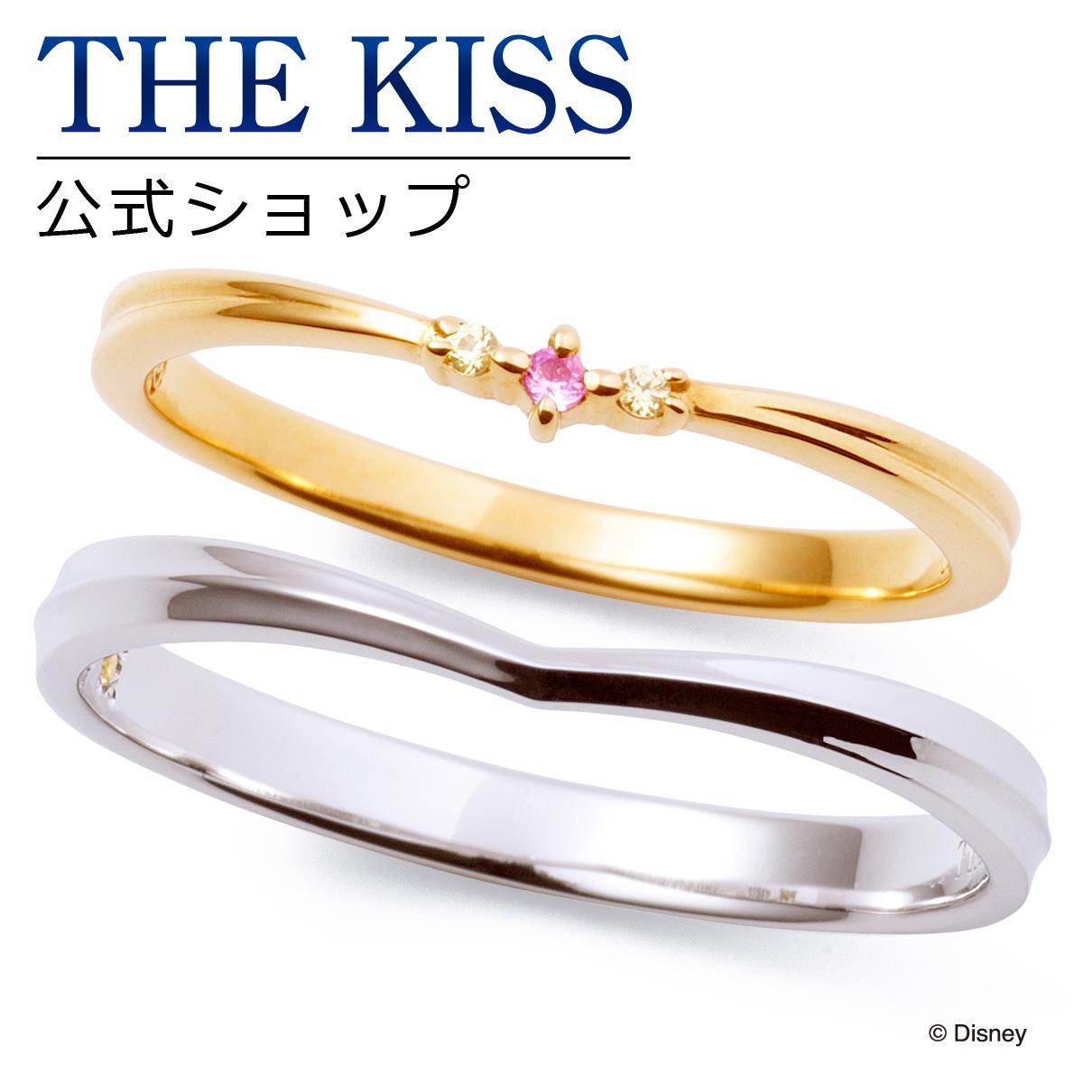 【あす楽対応】【ディズニーコレクション】 ディズニー / ペアリング / ディズニープリンセス ベル / 結婚指輪 マリッジリング / THE KISS sweets リング・指輪 K10イエローゴールド K10ホワイトゴールド DI-YR2700PSP-2701YSP セット シンプル ザキス 【送料無料】