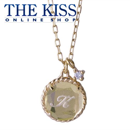 【代引不可】【送料無料】【THE KISS sweets】 イニシャルオーダーネックレス(サークル型、誕生石)40cm ☆ 誕生石 ゴールド レディース イニシャル ネックレス 首飾り ブランド Birthday stone GOLD Ladies Initial order Necklace