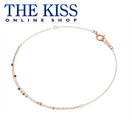 【あす楽対応】【送料無料】【THE KISS sweets】 K10ピンクゴールド レディース ブレスレット 18cm ☆ ゴールド レディース ブレスレット ブランド GOLD Ladies Bracelet