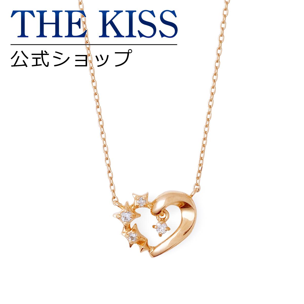 【あす楽対応】【送料無料】【THE KISS sweets】 K10ピンクゴールド ダイヤモンド レディース ネックレス 40cm ☆ ダイヤモンド ゴールド レディース ネックレス 首飾り ブランド Ladies Necklace K-N1816PG