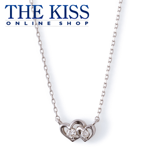 【あす楽対応】【送料無料】【THE KISS sweets】 K18ホワイトゴールド ダイヤモンド ハート レディース ネックレス 40cm ☆ ダイヤモンド ゴールド レディース ネックレス 首飾り ブランド Diamond GOLD Ladies Necklace