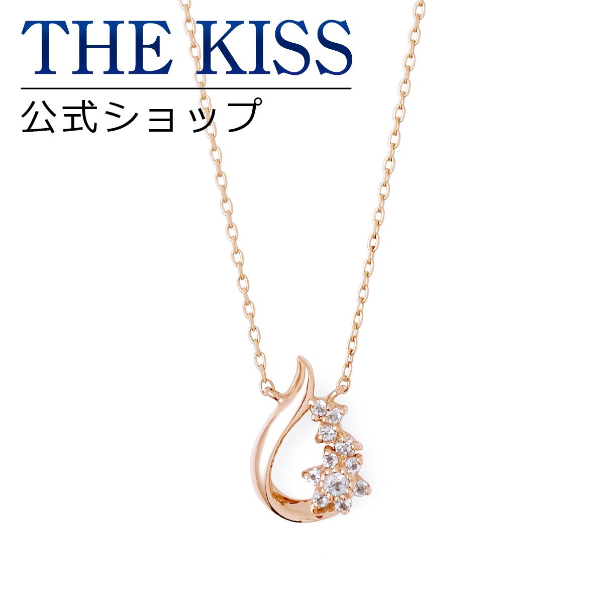 【あす楽対応】【送料無料】【THE KISS sweets】 K10ピンクゴールド トパーズ レディース ネックレス 40cm ☆ ダイヤモンド ゴールド レディース ネックレス 首飾り ブランド Ladies Necklace K-N2223PG