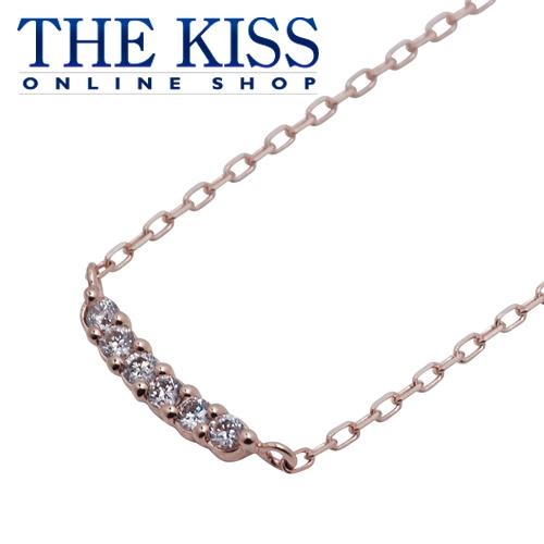 【あす楽対応】【送料無料】【THE KISS sweets】 K10ピンクゴールド ダイヤモンド レディース ネックレス 40cm ☆ ダイヤモンド ゴールド レディース ネックレス 首飾り ブランド Diamond GOLD Ladies Necklace