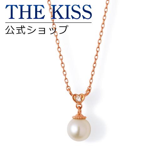 【あす楽対応】【送料無料】【THE KISS sweets】 K10ピンクゴールド パール ダイヤモンド レディース ネックレス 40cm ☆ パール ダイヤモンド ゴールド レディース ネックレス 首飾り ブランド Pearl Diamond GOLD Ladies Necklace
