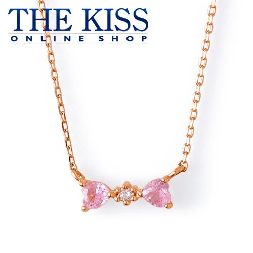 【あす楽対応】【送料無料】【THE KISS sweets】 K10ピンクゴールド レディース ネックレス 40cm ☆ ダイヤモンド ゴールド レディース ネックレス 首飾り ブランド Diamond GOLD Ladies Necklace