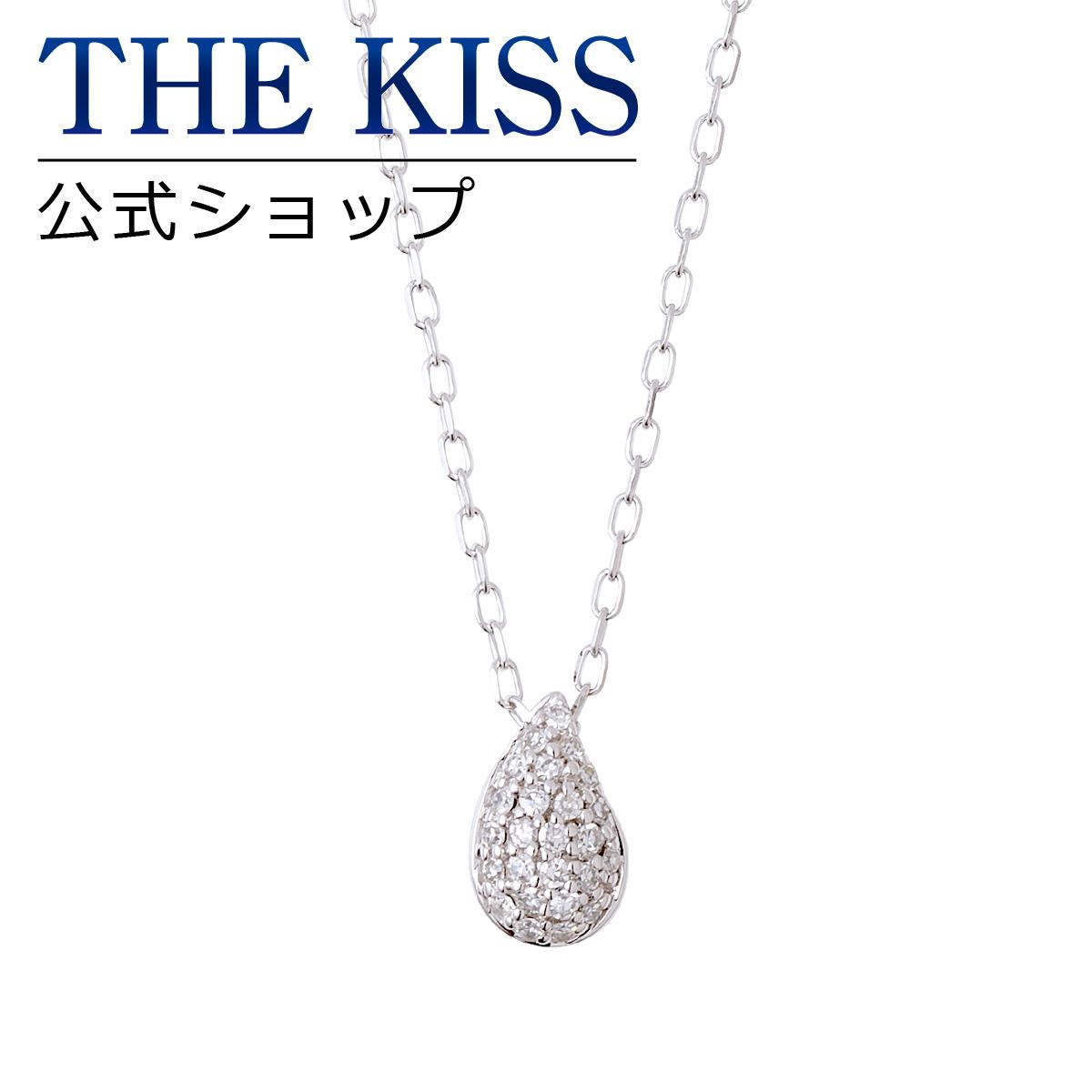 【あす楽対応】【送料無料】【THE KISS sweets】 K10ホワイトゴールド ダイヤモンド レディース ネックレス 40cm ☆ ダイヤモンド ゴールド レディース ネックレス 首飾り ブランド Ladies Necklace PAVE-01WG