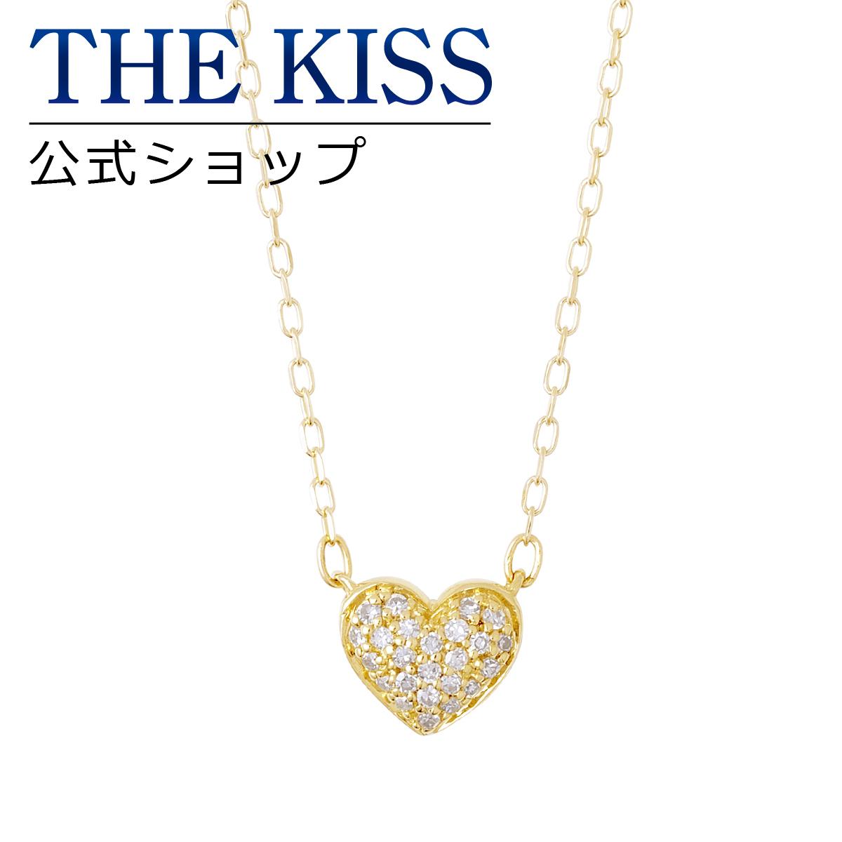 【あす楽対応】【送料無料】【THE KISS sweets】 K10イエローゴールド ダイヤモンド レディース ネックレス 40cm ☆ ダイヤモンド ゴールド レディース ネックレス 首飾り ブランド Ladies Necklace PAVE-02YG