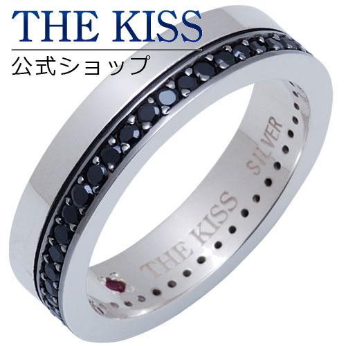 【あす楽対応】 THE KISS 公式サイト シルバー ペアリング (メンズ 単品 ) ルビー キュービック ペアアクセサリー カップル に 人気 の ジュエリーブランド THEKISS ペア リング・指輪 SR690BK-RB ザキス 【送料無料】