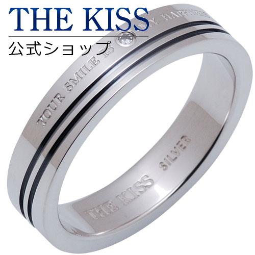 【あす楽対応】 THE KISS 公式サイト シルバー ペアリング ( メンズ 単品 ) ダイヤモンド ペアアクセサリー カップル に 人気 の ジュエリーブランド ペア リング・指輪 SR1659DM ザキス 【送料無料】