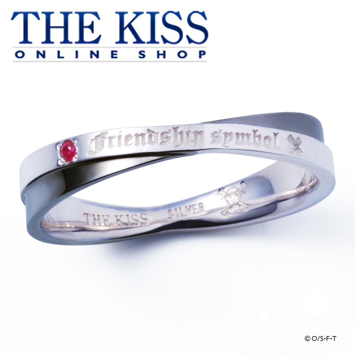 【あす楽対応】【送料無料】【ペアリング】【ONE PIECE】麦わらの一味 ペアリング ルフィ ブラックVer. ルビー シルバーリング☆ THE KISS シルバ- ペア リング 指輪 ブランド SILVER Pair Ring couple