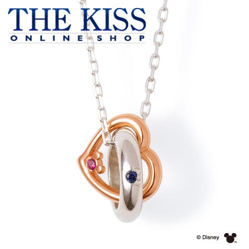 【ディズニーコレクション】 ディズニー / ネックレス / 隠れミッキーマウス / THE KISS ペア ネックレス・ペンダント シルバー 誕生石 (レディース 単品) DI-BDSN450 ザキス 【代引不可】【送料無料】【Disneyzone】
