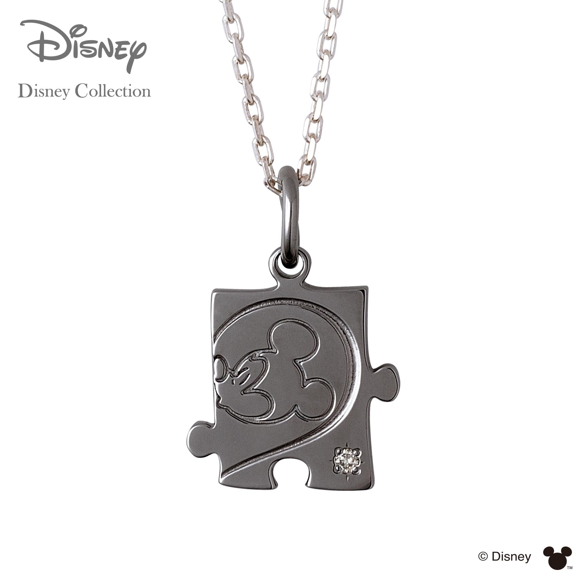 【あす楽対応】【ディズニーコレクション】 ディズニー / ネックレス / ミッキーマウス / THE KISS ペア ネックレス・ペンダント シルバー ダイヤモンド (メンズ 単品) DI-SN1804DM ザキス 【送料無料】【Disneyzone】
