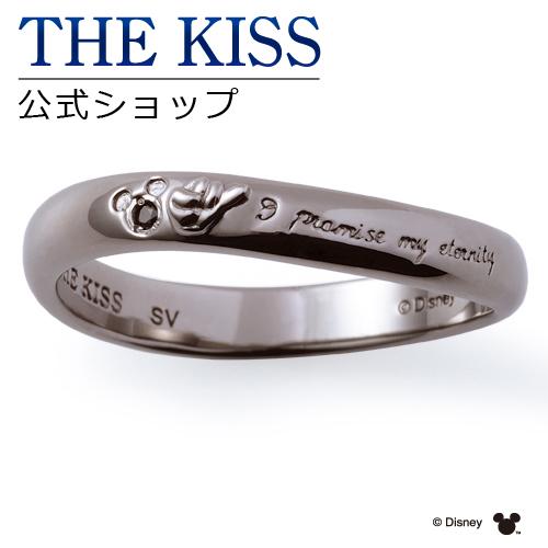 【あす楽対応】【ディズニーコレクション】 ディズニー / ペアリング / 隠れミッキーマウス / THE KISS リング・指輪 シルバー ブラックダイヤモンド (メンズ 単品) DI-SR1805BKD ザキス 【送料無料】【Disneyzone】
