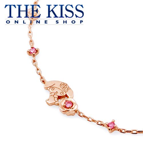 【あす楽対応】【送料無料】【マイメロディ×THE KISSコラボ】 マイメロディ ローズ ブレスレット ☆ シルバ- レディース ネックレス 首飾り ブランド SILVER Ladies Necklace