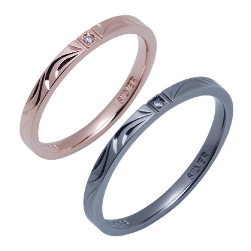 THE KISS 公式サイト シルバー ペアリング ペアアクセサリー カップル に 人気 の ジュエリーブランド THEKISS ペア リング・指輪 記念日 プレゼント SR1527DM-1528DM セット シンプル ザキス