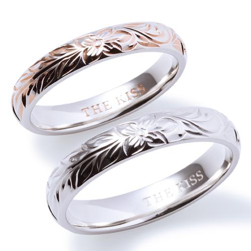 【刻印可_6文字】THE KISS 公式サイト シルバー ペアリング ペアアクセサリー カップル に 人気 の ジュエリーブランド THEKISS ペア リング・指輪 記念日 プレゼント SR1531-1532 セット シンプル ザキス
