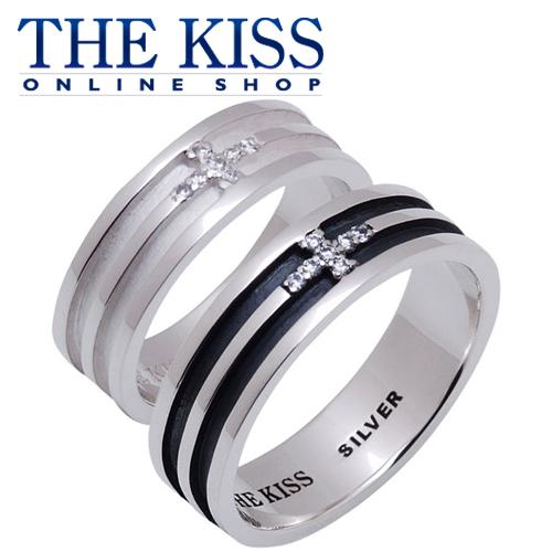 THE KISS 公式サイト シルバー ペアリング ペアアクセサリー カップル に 人気 の ジュエリーブランド THEKISS ペア リング・指輪 記念日 プレゼント SR1814WHCB-BKCB セット シンプル ザキス