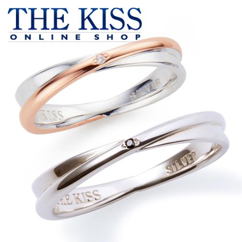 THE KISS 公式サイト シルバー ペアリング ダイヤモンド ペアアクセサリー カップル に 人気 の ジュエリーブランド THEKISS ペア リング・指輪 記念日 プレゼント SR6045DM-6093BKD セット シンプル ザキス 【送料無料】