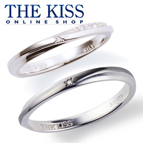 THE KISS 公式サイト シルバー ペアリング ダイヤモンド ペアアクセサリー カップル に 人気 の ジュエリーブランド THEKISS ペア リング・指輪 記念日 プレゼント SR6094DM-6052DM セット シンプル ザキス 【送料無料】
