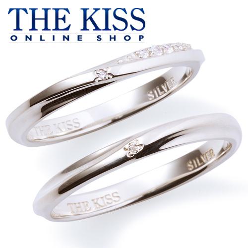 THE KISS 公式サイト シルバー ペアリング ダイヤモンド ペアアクセサリー カップル に 人気 の ジュエリーブランド THEKISS ペア リング・指輪 記念日 プレゼント SR6094DM-6095DM セット シンプル ザキス 【送料無料】