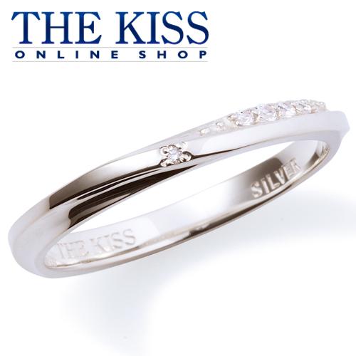 【あす楽対応】THE KISS 公式サイト シルバー ペアリング ( レディース 単品 ) ダイヤモンド ペアアクセサリー カップル に 人気 の ジュエリーブランド THEKISS ペア リング・指輪 記念日 プレゼント SR6094DM ザキス 【送料無料】
