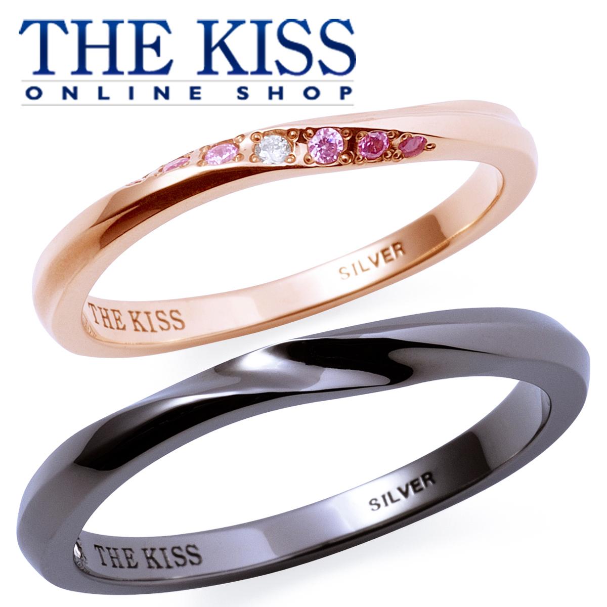 【あす楽対応】THE KISS 公式サイト シルバー ペアリング ダイヤモンド ペアアクセサリー カップル に 人気 の ジュエリーブランド THEKISS ペア リング・指輪 記念日 プレゼント 2017-01RPI-BK セット シンプル ザキス 【送料無料】