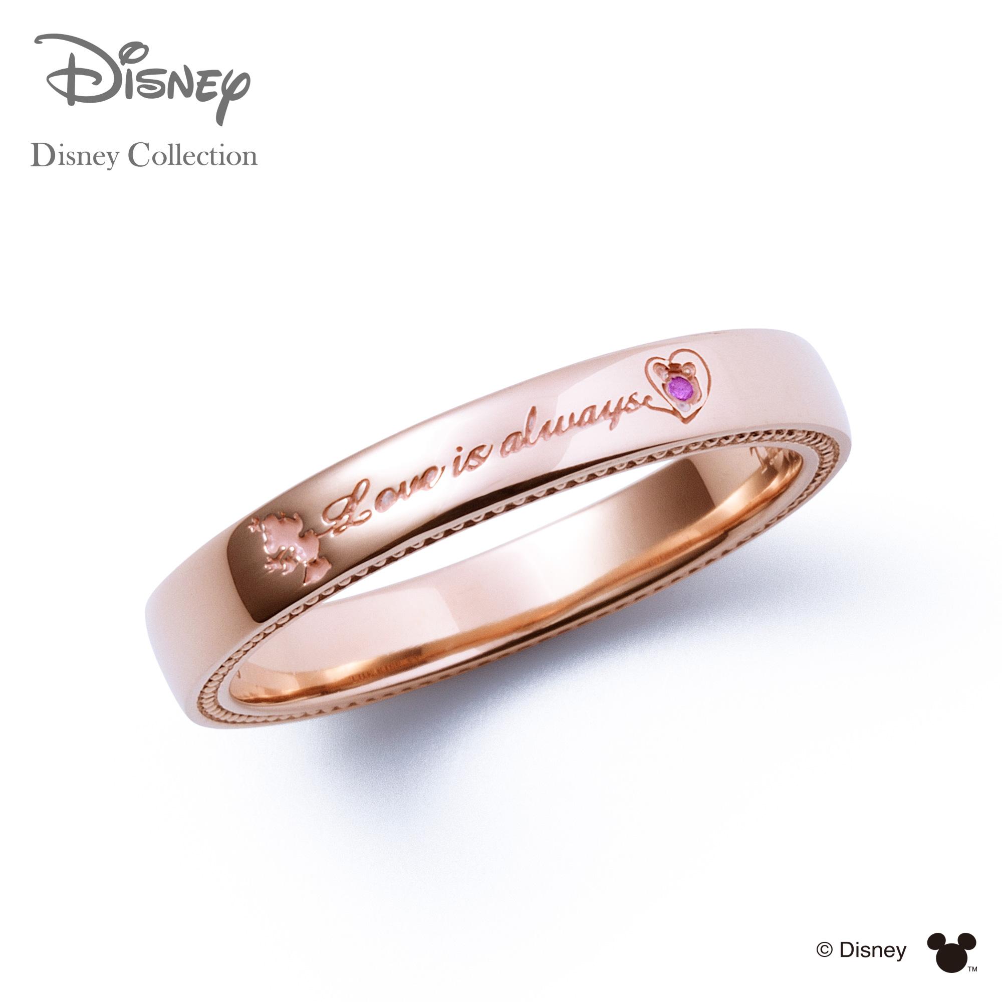 【あす楽対応】【ディズニーコレクション】 ディズニー / ペアリング / ミニーマウス / THE KISS リング・指輪 シルバー ピンクサファイア (レディース 単品) DI-SR709PSP ザキス 【送料無料】【Disneyzone】