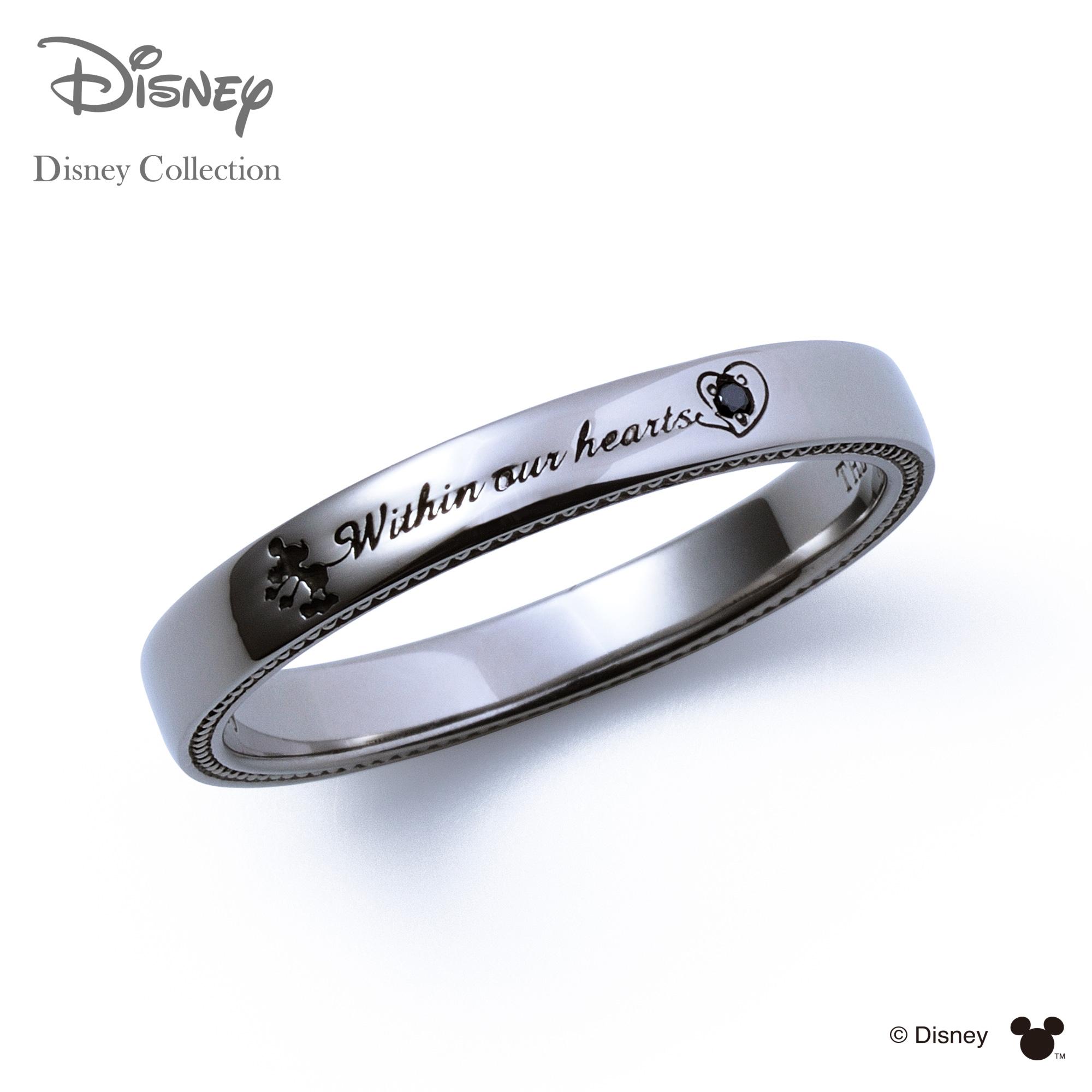 【あす楽対応】【ディズニーコレクション】 ディズニー / ペアリング / ミッキーマウス / THE KISS リング・指輪 シルバー ダイヤモンド (メンズ 単品) DI-SR710BKD ザキス 【送料無料】【Disneyzone】