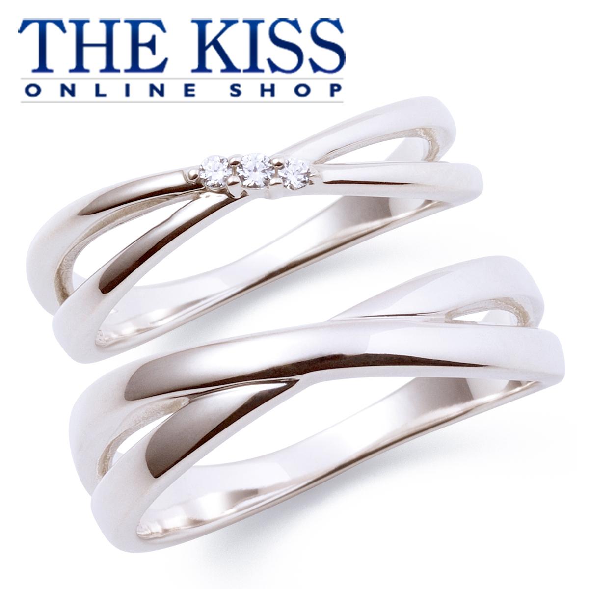 【あす楽対応】THE KISS 公式サイト シルバー ペアリング ペアアクセサリー カップル に 人気 の ジュエリーブランド THEKISS ペア リング・指輪 記念日 プレゼント PSR814CB-815 セット シンプル ザキス 【送料無料】