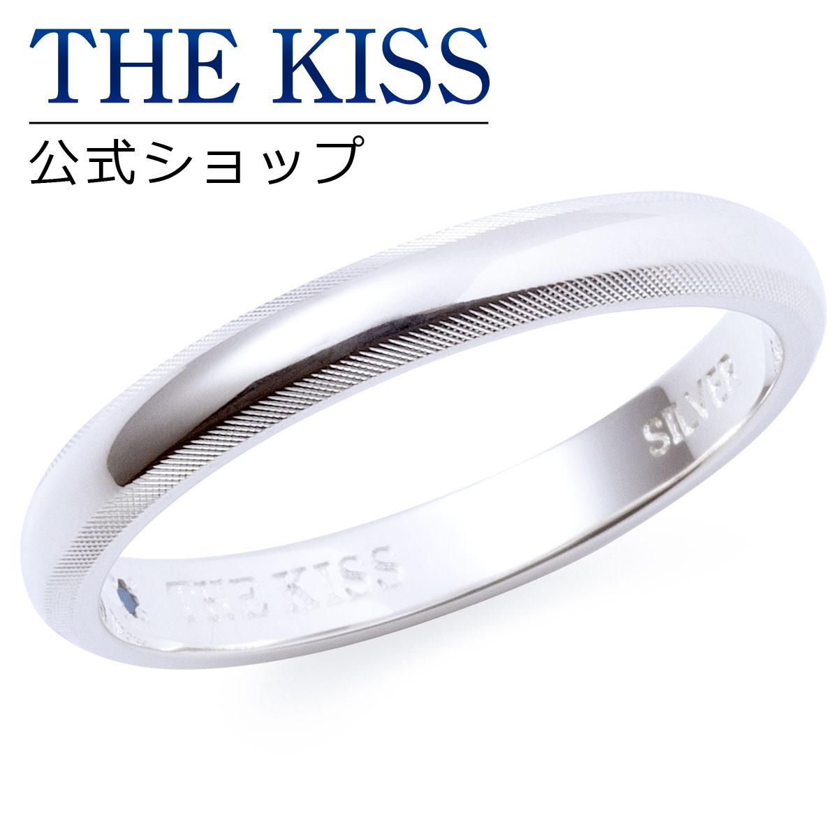 【あす楽対応】THE KISS 公式サイト シルバー ペアリング ( メンズ 単品 ) ペアアクセサリー カップル に 人気 の ジュエリーブランド THEKISS ペア リング・指輪 記念日 プレゼント SR2024BDM ザキス 【送料無料】