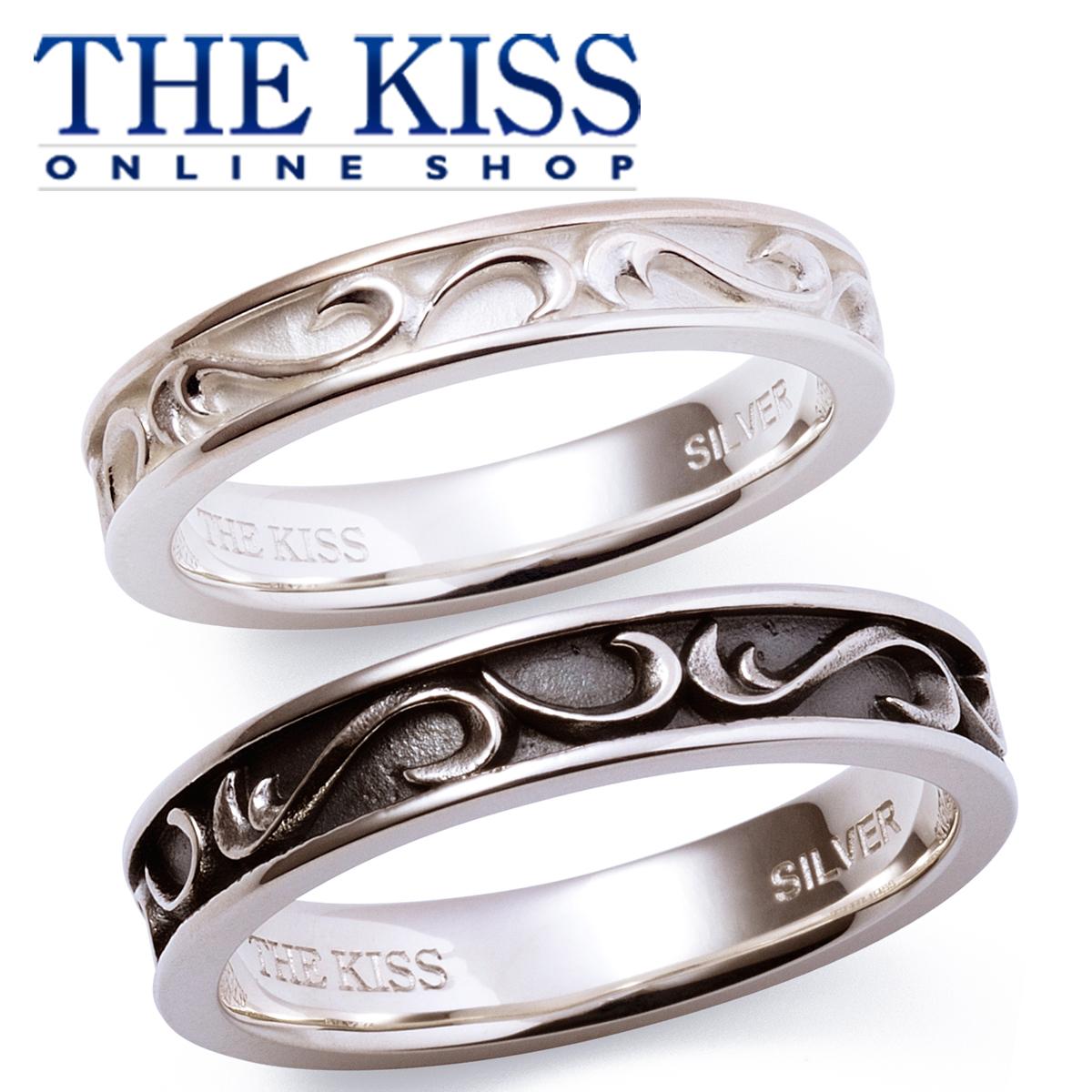 【あす楽対応】THE KISS 公式サイト シルバー ペアリング ペアアクセサリー カップル に 人気 の ジュエリーブランド THEKISS ペア リング・指輪 記念日 プレゼント SR6100WH-6101BK セット シンプル ザキス
