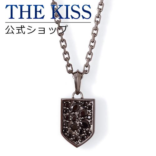 【あす楽対応】THE KISS 公式サイト シルバー ネックレス メンズジュエリー・アクセサリー キュービックジルコニア ジュエリーブランド THEKISS BLACK ネックレス・ペンダント 記念日 プレゼント B-N1800SVCB ザキス 【送料無料】