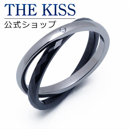 【あす楽対応】 THE KISS 公式サイト ステンレス ペアリング (メンズ 単品) ペアアクセサリー カップル に 人気 の ジュエリーブランド THEKISS ペア リング・指輪 TR8001DM ザキス 【送料無料】