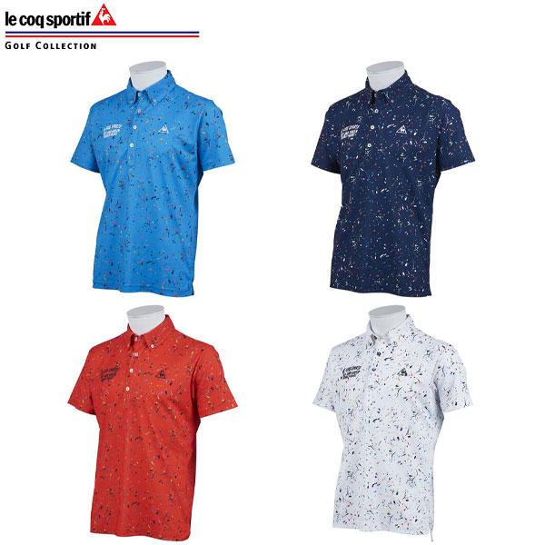 [土日祝も出荷可能]【あす楽】【送料無料】 ルコック QGMPJA16 サンスクリーンスプラッシュプリント 半袖 ポロシャツ