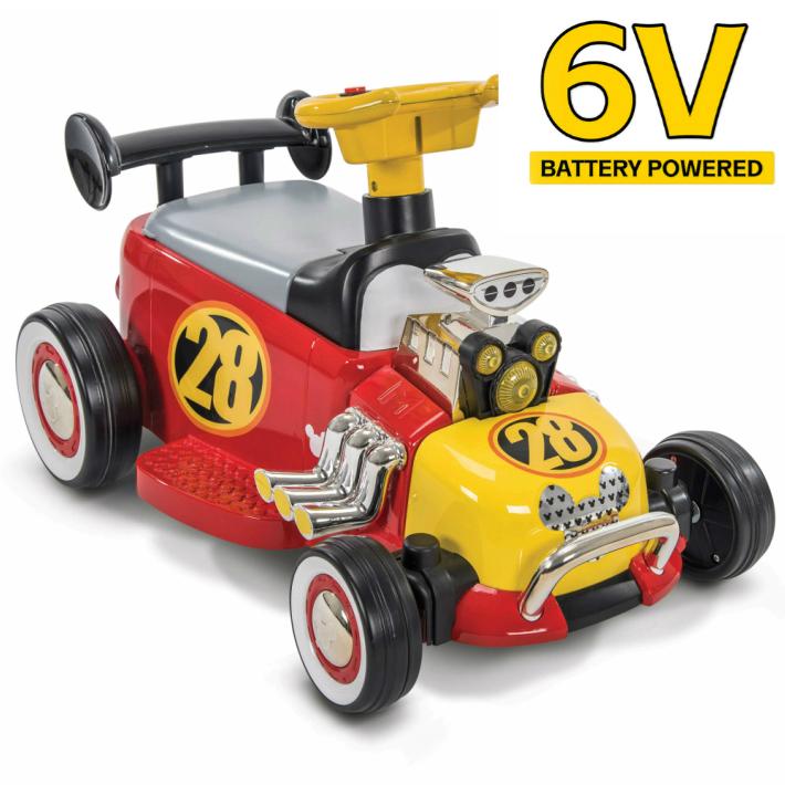 ディズニー ミッキー ボーイズ バッテリーカー キッズ Disney Mickey Boys' 6V Battery-Powered Ride-On Quad by Huffy プレゼント 電動ミニカー ミニカー 電動乗用 電動カー