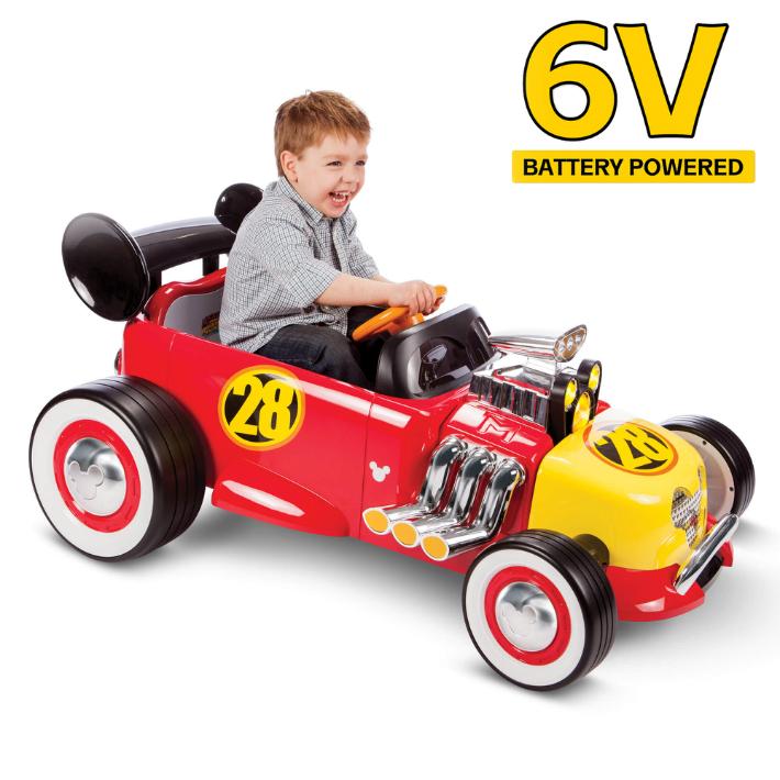 Disney Mickey Roadster Racer ディズニー ミッキー ロードスター レーサー バッテリーカー6V Powered Ride On by Huffy Battery キッズ プレゼント 電動ミニカー ミニカー 電動乗用 電動カー