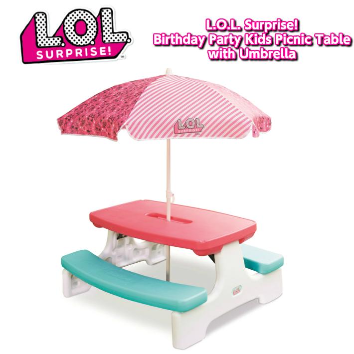 L.O.L SURPRISE! ピクニックテーブル Birthday Party Kids Picnic Table with Umbrella lolサプライズ