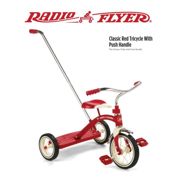 【送料無料】#34T ラジオフライヤー RADIO FLYER Classic Red Tricycle 三輪車 プッシュハンドル キッズ プレゼント ラジフラ