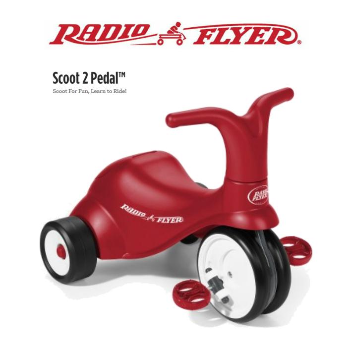 【送料無料】#68 Scoot 2 Pedal 三輪車 RADIO FLYER キックカー キッズ 誕生日 プレゼント お散歩 公園 ラジオフライヤー 足けり
