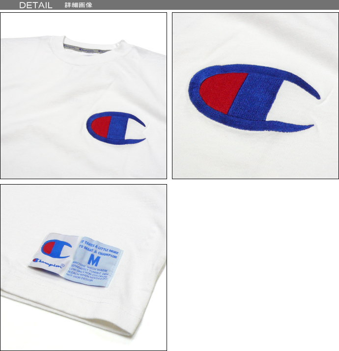 Champion Champion VIC logo embroidered T shirt big logo mark action style 90 s