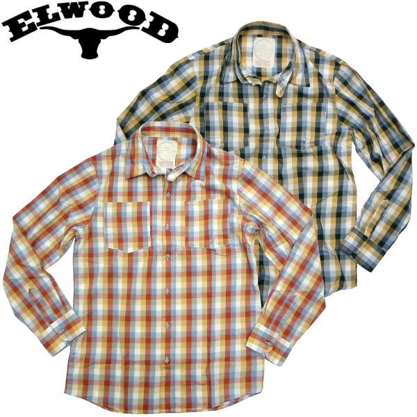 ELWOOD(エルウッド)チェックシャツ カジュアル KENNY PLAID ワークシャツ アメカジ スケボー ビンテージ KENNY ANDERSON SKATE