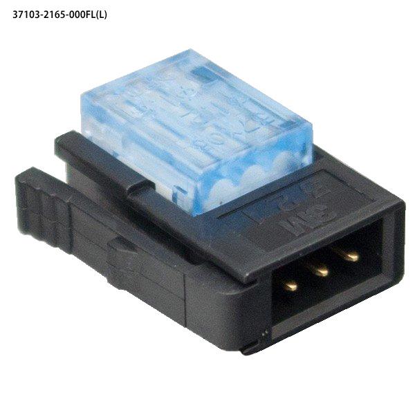 ユーボン 37103-2165-000FL(L) 100個入り AWG20-22 3P ミニクランプ(センサ用・中継用)3極