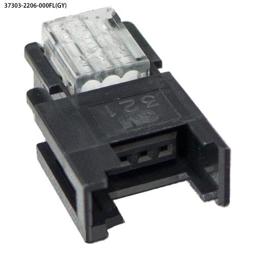 ユーボン 37303-2206-000FL(GY)100個入り AWG20-22 3P ミニクランプ 3極 中継用