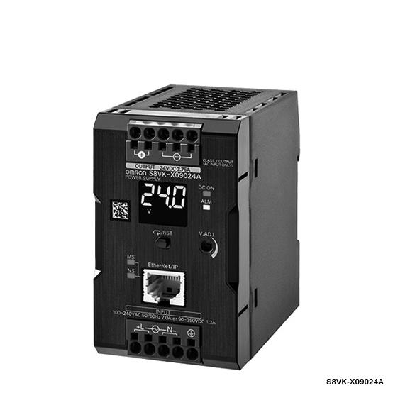 オムロン S8VK-X12024A-EIP スイッチング・パワーサプライ 容量120W 出力電圧DC24V 定格入力電圧AC100~240V カバー付きタイプ プッシュインPlus端子台 通信機能有