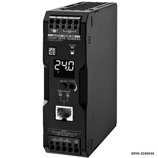 オムロン S8VK-X24024A-EIP スイッチング・パワーサプライ 容量240W 出力電圧DC24V 定格入力電圧AC100~240V カバー付きタイプ プッシュインPlus端子台 通信機能有
