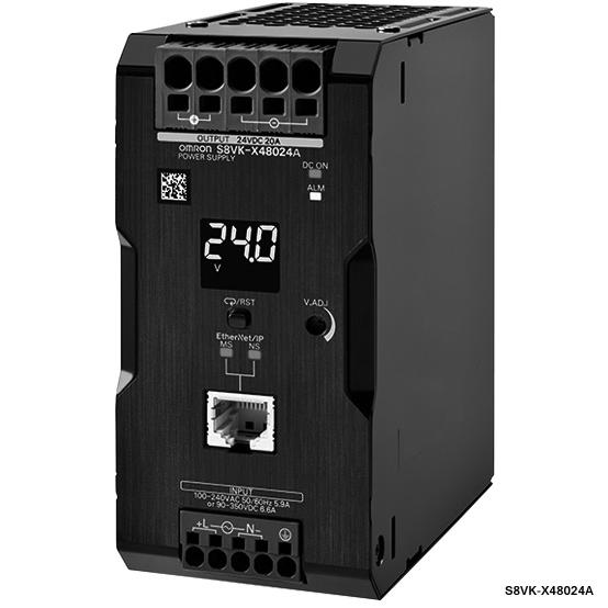 <title>オムロン S8VK-X48024A-EIP 限定モデル スイッチング パワーサプライ 容量480W 出力電圧DC24V 定格入力電圧AC100~240V カバー付きタイプ プッシュインPlus端子台 通信機能有</title>