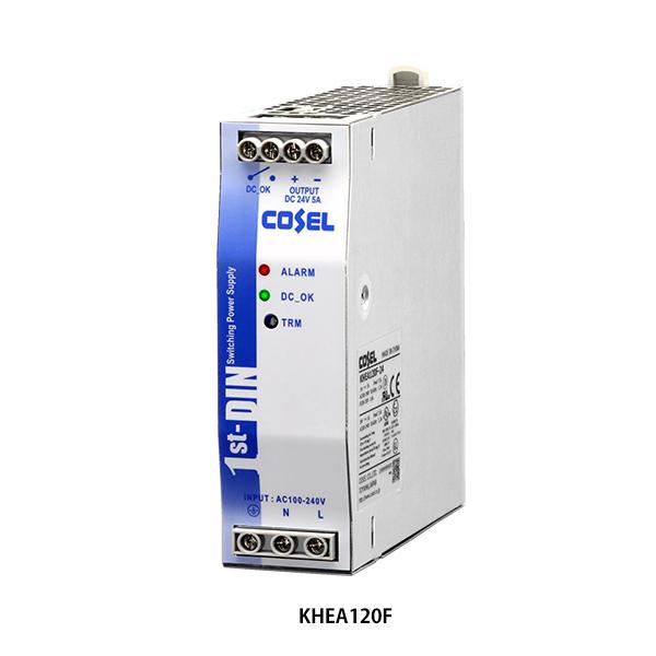 在庫品 コーセル(cosel) KHEA120F-24 DINレール専用電源 最大出力電力120W DC出力24V 5A 入力電圧AC85~264V KHEAシリーズ (ヨーロピアン端子台)