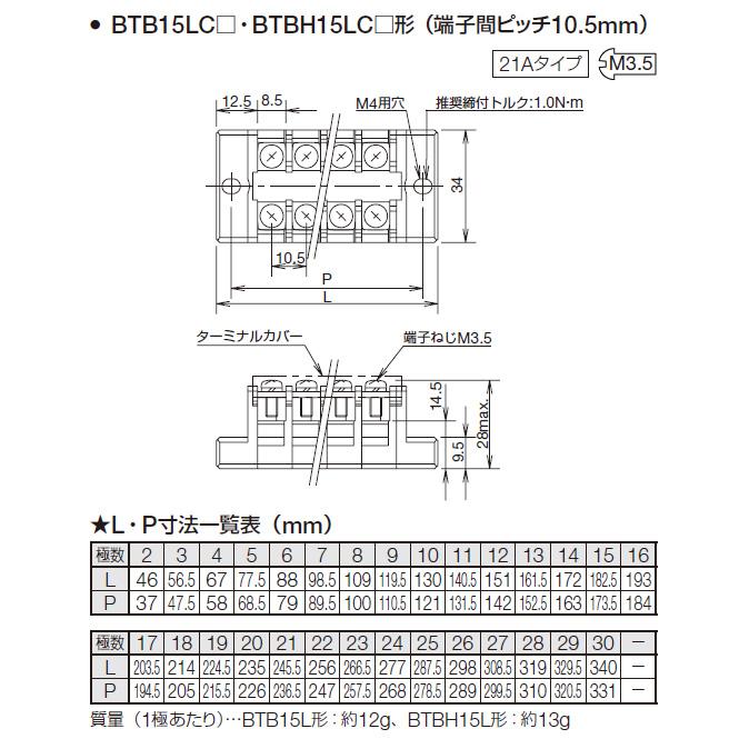 IDEC BTBH30C5 5極 BTBHシリーズ固定端子台 M4ネジ 40Aタイプ 低価格 タッチダウン構造形 男女兼用