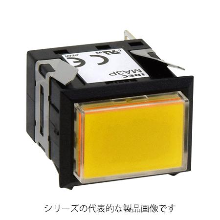 IDEC MA3P-341Y 黄 角胴 MAシリーズ 再再販 年中無休 表示灯 DC24V 長角形 LED照光 AC 単色全面照光